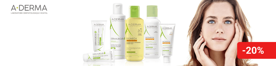 Знижка 20% на косметику ТМ A-Derma