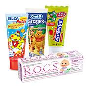 Детские зубные пасты и гели