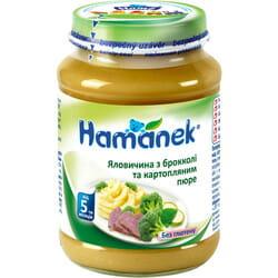 Пюре мясо-овощное детское HAMANEK (Хаманек) Говядина с брокколи и картофельным пюре с 5-ти месяцев 190 г