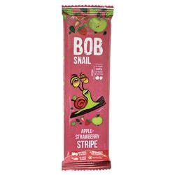 Конфеты детские натуральные Bob Snail (Боб Снеил) Улитка Боб страйпсы яблочно-клубничные 14 г