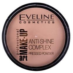 Пудра для лица EVELINE (Эвелин) Art Professional Make-up матирующая минеральная с шелком тон 34 Medium Beige 14 г