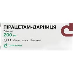 Пирацетам-Дарница табл. п/о 200мг №60