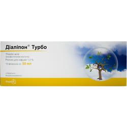 Диалипон Турбо р-р д/инф. 1,2% фл. 50мл №10