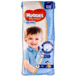 Подгузники для детей HUGGIES (Хаггис) Ultra Comfort Mega (Ультра комфорт мега) 5 для мальчиков от 12 до 22 кг 56 шт