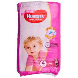 Подгузники для детей HUGGIES (Хаггис) Ultra Comfort Mega (Ультра комфорт мега) 4 для девочек 66 шт