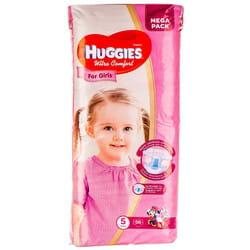 Подгузники для детей HUGGIES (Хаггис) Ultra Comfort Mega (Ультра комфорт мега) 5 для девочек от 12 до 22 кг 56 шт