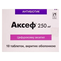 Аксеф табл. п/о 250мг №10