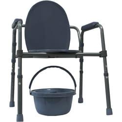 Кресло-туалет с санитарным оснащение регулируемое по высоте KJT717 RD-CARE