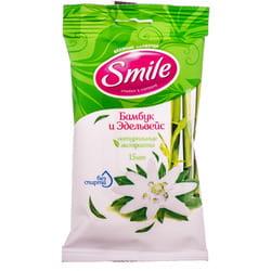 Салфетки влажные SMILE (Смайл) Daily (Дэйли) в ассортименте 15 шт