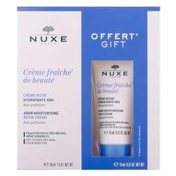 Набор NUXE (Нюкс) Крем-фреш насыщенный крем 30 мл + Крем-фреш насыщенный крем 15 мл
