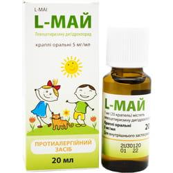 L-Май кап. орал. р-р 5 мг/мл фл. 20мл