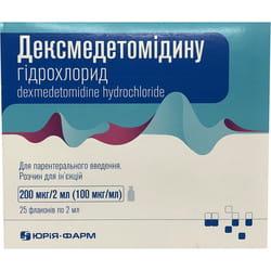 Дексмедетомидина г/х р-р д/ин. 200мкг/2мл фл. 2мл №25***