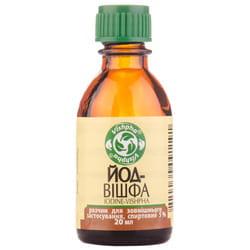 Йод-Вишфа р-р спирт. 5% фл. 20мл