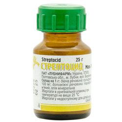 Стрептоцид мазь 10% банка 25г