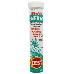 Витамины ZEST (Зест) EfferVit Energy (ЭфферВит Энерджи) с витамином С таблетки водорастворимые 20 шт