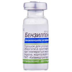 Бензилпенициллин пор. д/п ин. р-ра 1млнЕД фл.