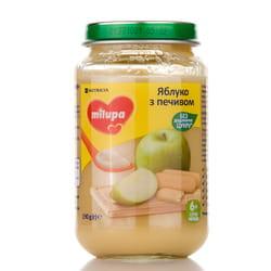 Пюре фруктовое детское Нутриция Milupa (Милупа) Яблоко с печеньем с 6-ти месяцев 190 г
