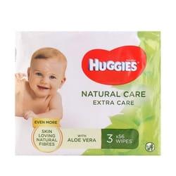 Салфетки влажные детские HUGGIES (Хаггис) Natural Care Extra Care Triplo 2+1 168 шт