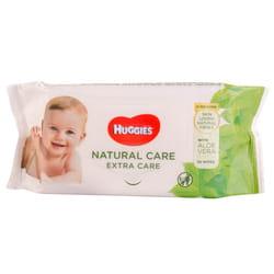 Салфетки влажные детские HUGGIES (Хаггис) Natural Care Extra Care 56 шт