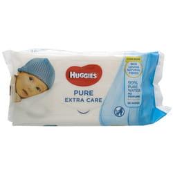 Салфетки влажные детские HUGGIES (Хаггис) Pure (Пьюр) Extra Care 56 шт