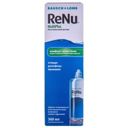 Раствор для контактных линз многоцелевой Renu Multiplus (РеНю Мультиплюс) флакон 360 мл