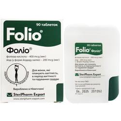 Дополнительный источник фолиевой кислоты и йода Фолио таблетки 90 шт