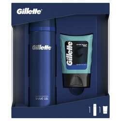 Набор GILLETTE (Жиллет) Гель для бритья Fusion Ultra Sensitive 200 мл + Гель после бритья Sensitive 75 мл
