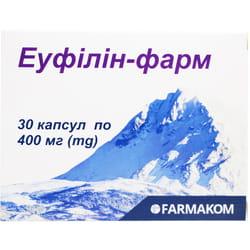 Капсулы для снятия приступов бронхиальной и сердечной астмы Эуфиллин-фарм 30 шт
