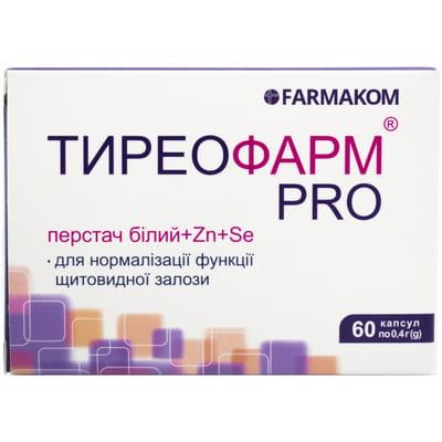 Капсулы для нормализации работы щитовидной железы Тиреофарм PRO по 0,4 г упаковка 60 шт - ТОВ ВТФ ФАРМАКОМ - Поддерживающие функции щитовидной железы - Аптека 9-1-1