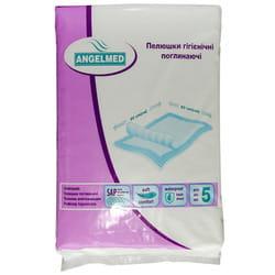 Пеленки гигиенические поглощающие Angelmed (АнгелМед) размер 60см x 90см 5 шт