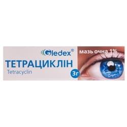 Тетрациклин мазь глаз. 1% (10мг/г) туба 3г