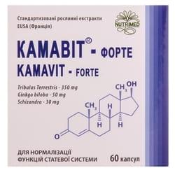 Капсулы для нормализации функций половой системы у мужчин Камавит форте 6 блистеров по 10 шт
