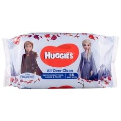 Салфетки влажные детские HUGGIES (Хаггис) Frozen Over Clean 56 шт