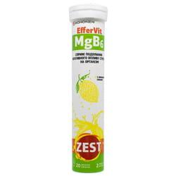 Витамины ZEST (Зест) EfferVit MgB6 (ЭфферВит MgB6) таблетки водорастворимые 20 шт