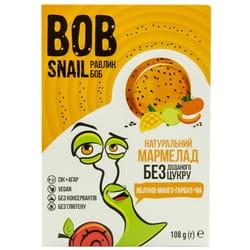Мармелад фруктовый детские Bob Snail (Боб Снеил) Улитка Боб яблоко-манго-тыква-чиа 108 г