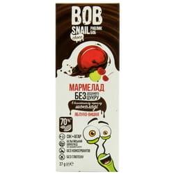 Мармелад фруктовый детские Bob Snail (Боб Снеил) Улитка Боб яблоко-вишня в бельгийском черном шоколаде 27 г