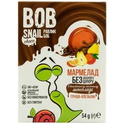 Мармелад фруктовый детские Bob Snail (Боб Снеил) Улитка Боб груша-апельсин в бельгийском молочном шоколаде 54 г