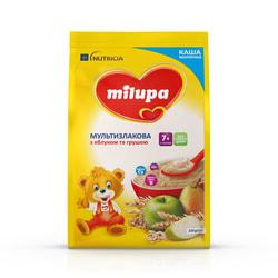 Каша молочная детская Нутриция Milupa (Милупа) Мультизлаковая с яблоком и грушей с 7-ми месяцев мягкая упаковка 210 г