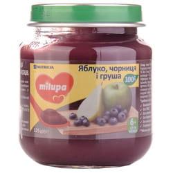 Пюре фруктовое детское Нутриция Milupa (Милупа) Яблоко, черника и груша с 6-ти месяцев 125 г