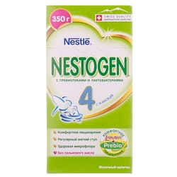 Смесь молочная детская NESTLE (Нестле) Нестожен 4 с лактобактериями L. Reuteri с 18 месяцев 350 г