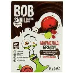 Мармелад фруктовый детские Bob Snail (Боб Снеил) Улитка Боб яблоко-вишня в бельгийском черном шоколаде 54 г