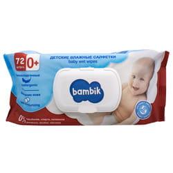 Салфетки влажные BAMBIK (Бамбик) детские с экстрактом липы с клапаном 72 шт