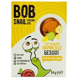 Мармелад фруктовый детские Bob Snail (Боб Снеил) Улитка Боб яблоко-груша-лимон 54 г