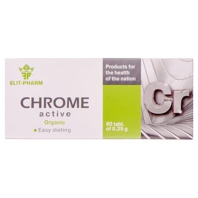 Минеральные вещества Хром активный таблетки 80 шт