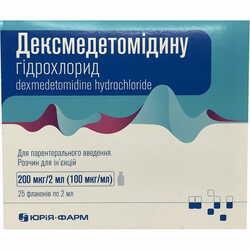 Дексмедетомидина г/х р-р д/ин. 200мкг/2мл фл. 2мл №25