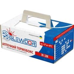 Термобокс Termobox ІК-2М GLEWDOR аптечный для транспортировки термолабильной продукции многоразовый объем 1,7 л (270ммх165ммх115мм) (без хладагента)