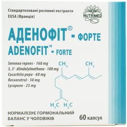 Аденофит-форте капсулы для нормализации гормонального баланса у мужчин 6 блистеров по 10 шт