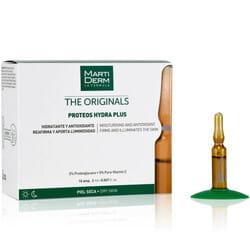 Средство для лица, шеи, зоны декольте MARTIDERM (Мартидерм) Протеос Гидра Плюс увлажняющее, антиоксидантное для сухой кожи в ампулах по 2 мл 10 шт