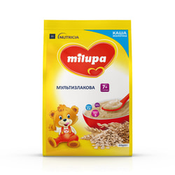Каша молочная детская Нутриция Milupa (Милупа) Мультизлаковая с 7 месяцев мягкая упаковка 210 г