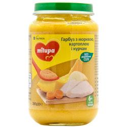 Пюре овоще-мясное детское Нутриция Milupa (Милупа) Тыква с морковкой, картошкой и цыпленком с 6-ти месяцев 200 г